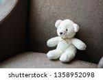 white teddy bear doll toy sit...   Shutterstock . vector #1358952098