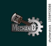 mechanic logo icon with engine...   Shutterstock .eps vector #1358953088