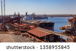Small photo of Port Hedland, Australia - Apr 3 2013: Bulk Carriers loading iron ore in the harbor. Port Hedland is the largest port by tonnage in Australia.