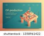 illustration is written oil... | Shutterstock .eps vector #1358961422