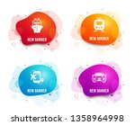 liquid badges. set of train ... | Shutterstock .eps vector #1358964998