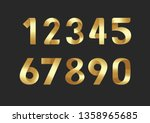 golden number vector | Shutterstock .eps vector #1358965685