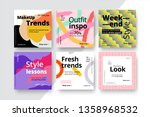 modern promotion square web... | Shutterstock .eps vector #1358968532