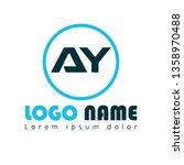 ay company linked letter logo...
