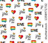 pride seamless pattern. lgbt ...   Shutterstock .eps vector #1358972732