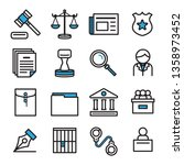 icon design for law concept... | Shutterstock .eps vector #1358973452