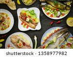 Stock photo mediterranean food traditional egyptian smoked herrings and salted fish feseekh are eaten 1358977982