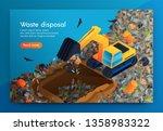 flat landing waste disposal at... | Shutterstock .eps vector #1358983322