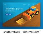 vector banner toxic waste...