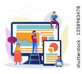 illustration of seo concept in... | Shutterstock .eps vector #1358983478