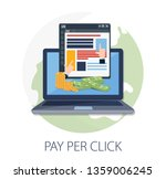 flat concept for pay per click... | Shutterstock .eps vector #1359006245