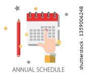 calendar and pencil. concept of ... | Shutterstock .eps vector #1359006248
