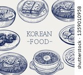 hand drawn korean food  vector... | Shutterstock .eps vector #1359010958