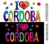 i love cordoba   cute... | Shutterstock .eps vector #1359012338