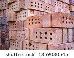 stack of bricks for...   Shutterstock . vector #1359030545