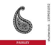 paisley motif hand drawn... | Shutterstock .eps vector #1359031052