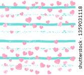 pink glitter hearts confetti ... | Shutterstock .eps vector #1359031118