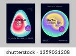 music poster set. minimal indie ... | Shutterstock .eps vector #1359031208