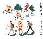 family active pastime hiking... | Shutterstock .eps vector #1359035312