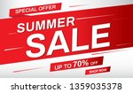summer sale banner. sale up to... | Shutterstock .eps vector #1359035378