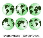 3d globe earth isolated decor | Shutterstock .eps vector #1359049928