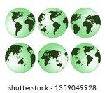 3d globe earth isolated | Shutterstock .eps vector #1359049928
