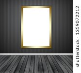 gallery interior with one empty ... | Shutterstock . vector #1359072212