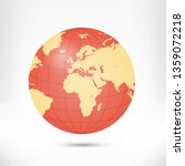 globe earth illustration... | Shutterstock . vector #1359072218