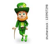 leprechaun for st patricks day | Shutterstock . vector #135907298