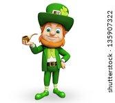 leprechaun for st patricks day   Shutterstock . vector #135907322
