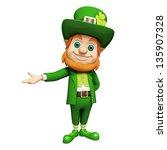 leprechaun for st patricks day | Shutterstock . vector #135907328