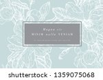 vintage card with magnolia... | Shutterstock .eps vector #1359075068