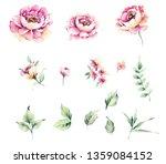 flowers watercolor illustration | Shutterstock . vector #1359084152