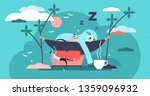 laziness vector illustration.... | Shutterstock .eps vector #1359096932