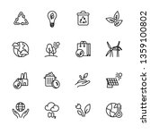 simple icon set ecology and... | Shutterstock . vector #1359100802