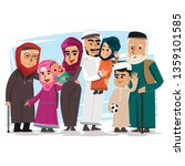 group of muslim family   vector ... | Shutterstock .eps vector #1359101585