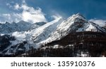 mountain peak in high alpes  le ... | Shutterstock . vector #135910376