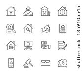 real estate related vector line ...   Shutterstock .eps vector #1359105545