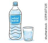 minearl water in plastic bottle ... | Shutterstock .eps vector #1359107135