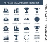 championship icons. trendy 16... | Shutterstock .eps vector #1359117038