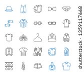 wear icons set. collection of... | Shutterstock .eps vector #1359117668
