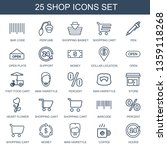 25 shop icons. trendy shop... | Shutterstock .eps vector #1359118268