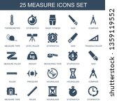 25 measure icons. trendy... | Shutterstock .eps vector #1359119552