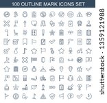 mark icons. trendy 100 mark... | Shutterstock .eps vector #1359121988