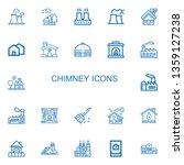 editable 22 chimney icons for... | Shutterstock .eps vector #1359127238