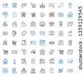 purchase icons set. collection... | Shutterstock .eps vector #1359129545