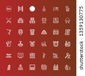 editable 36 antique icons for... | Shutterstock .eps vector #1359130775