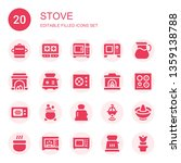 stove icon set. collection of... | Shutterstock .eps vector #1359138788