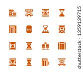 wait icon set. collection of 16 ... | Shutterstock .eps vector #1359139715