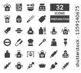 preparation icon set.... | Shutterstock .eps vector #1359140675